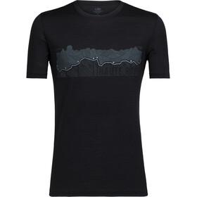 Icebreaker Tech Lite Haute Route t-shirt Heren zwart
